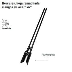 "Cavadora Hércules Hoja Remachada Mangos de Acero 47"" TRUPER"