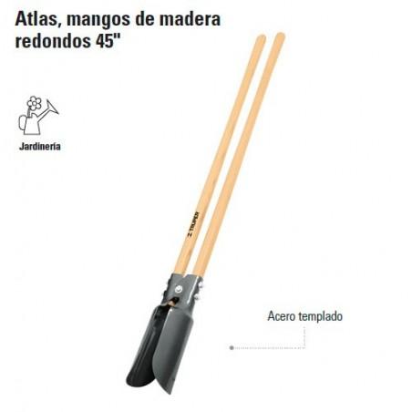 """Cavadora Atlas Mango de Madera Redondos 45"""" TRUPER"""