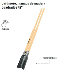 "Cavadora Jardinera Mangos de Madera Cuadrados 42"" TRUPER"
