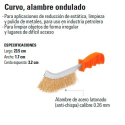 Cepillo de Alambre Curvo Ondulado TRUPER