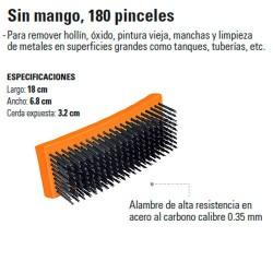Cepillo de Alambre sin Mango 180 Pinceles TRUPER
