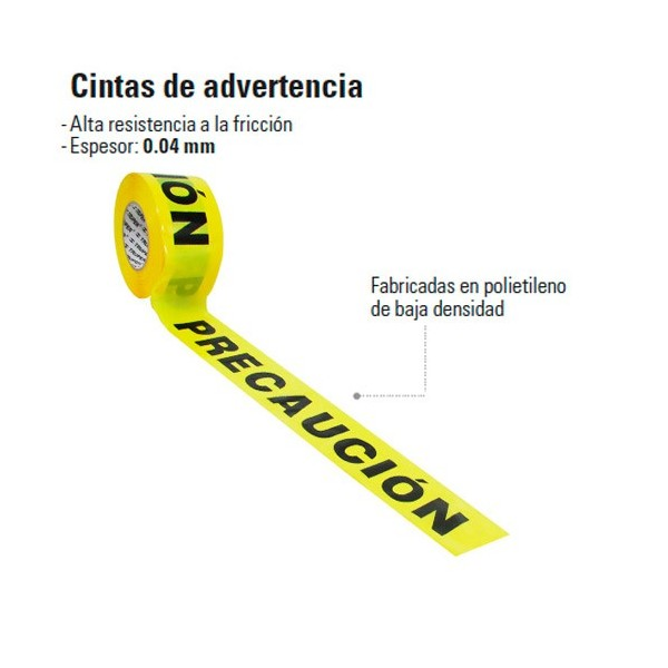 Cinta de Advertencia TRUPER