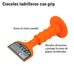 Cincel Ladrillero con Grip TRUPER