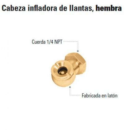 Cabeza Infladora de Llantas Hembra TRUPER