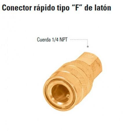 """Conector Rápido Tipo """"F"""" de Latón TRUPER"""