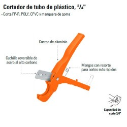 "Cortador de Tubo de Plástico 3/4"" TRUPER"