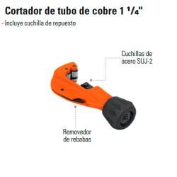 """Cortador de Tubo de Cobre 1 1/4"""" TRUPER"""
