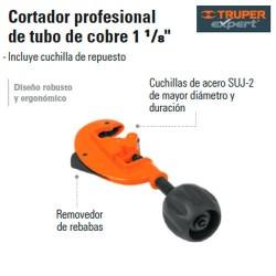 """Cortador Profesional de Tubo de Cobre 1 1/8"""" TRUPER"""