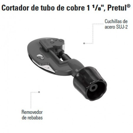 """Cortador de Tubo de Cobre 1 1/8"""" PRETUL"""