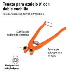 """Tenaza para Azulejo 8"""" con Doble Cuchilla TRUPER"""