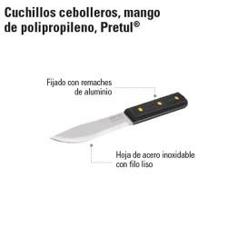 Cuchillo Cebollero Mango de Polipropileno PRETUL