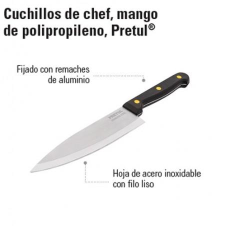 Cuchillo de Chef Mango de Polipropileno PRETUL