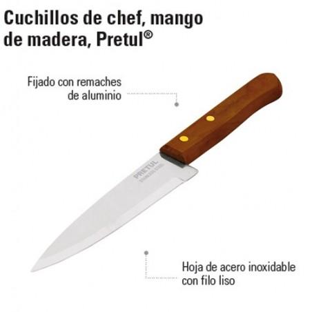 Cuchillo de Chef Mango de Madera PRETUL