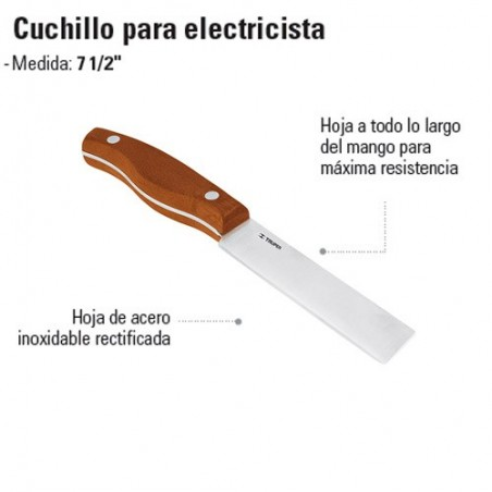 Cuchillo para Electricista TRUPER