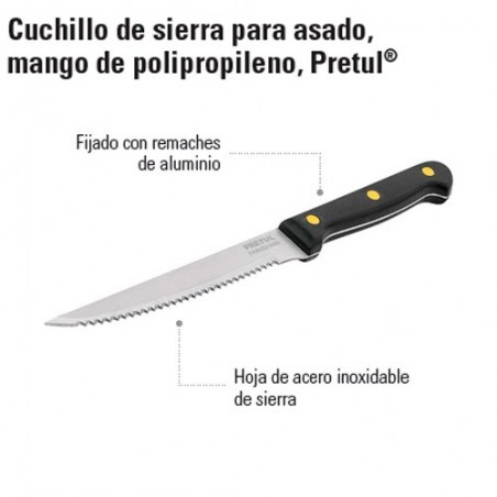 Cuchillo de Sierra Mango de Polipropileno PRETUL