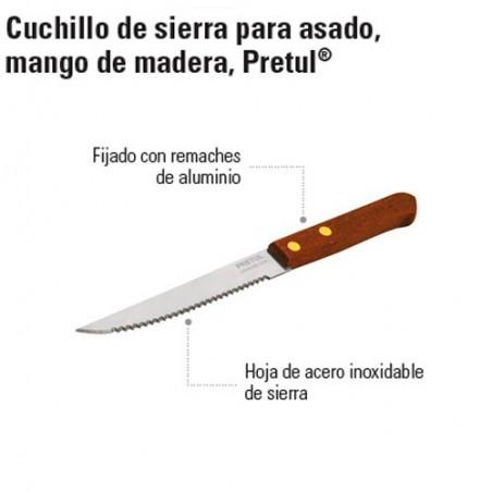 Cuchillo de Sierra Mango de Madera PRETUL