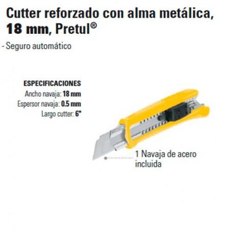 Cutter Reforzado con Alma Metálica 18 mm PRETUL