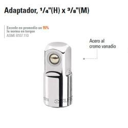 """Adaptador 1/4"""" (H) x 3/8"""" (M) TRUPER"""