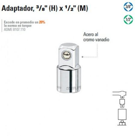 """Adaptador 3/8"""" (H) x 1/2"""" (M) TRUPER"""