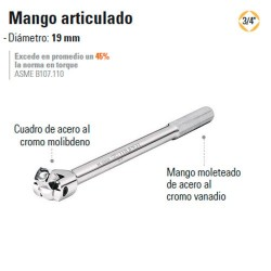 "Mango Articulado 3/4"" TRUPER"
