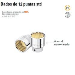 "Dado de 12 Puntas STD 3/4"" TRUPER"