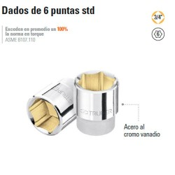 "Dado de 6 Puntas STD 3/4"" TRUPER"