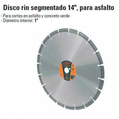 """Disco Rin Segmentado 14"""" Para Asfalto TRUPER"""