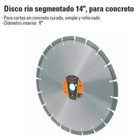 """Disco Rin Segmentado 14"""" Para Concreto TRUPER"""