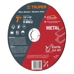 Disco Abrasivo Para Corte de Metal Alto Rendimiento TRUPER