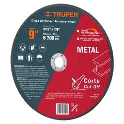 Disco Abrasivo Para Corte de Metal Uso General TRUPER