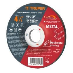 Disco Abrasivo Para Desbaste de Metal Alto Rendimiento TRUPER