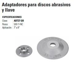 Adaptador Para Disco Abrasivo y Llave TRUPER