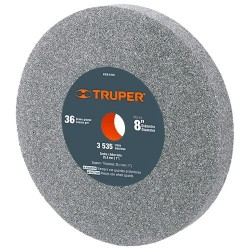 "Piedra Para Esmeril Oxido de Aluminio 8"" TRUPER"