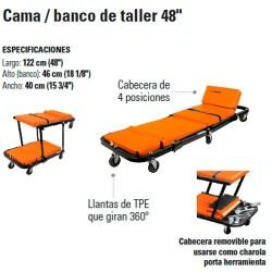 """Cama / Banco de Taller 48"""" TRUPER"""