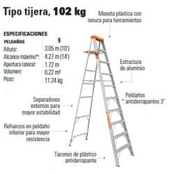 Escalera Tipo Tijera 102 kg TRUPER