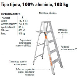 Compra en linea escalera tubular plegable pretul en for Escalera telescopica tipo tijera