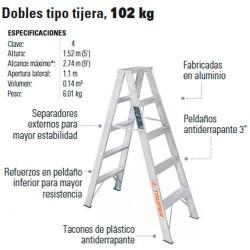 Escalera Doble Tipo Tijera 102 kg TRUPER