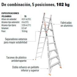 Escalera de Combinación 5 Posiciones 102 kg TRUPER