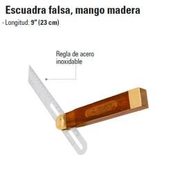 Escuadra Falsa Mango de Madera TRUPER
