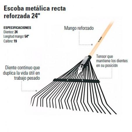 """Escoba Metálica Recta Reforzada 24"""" TRUPER"""