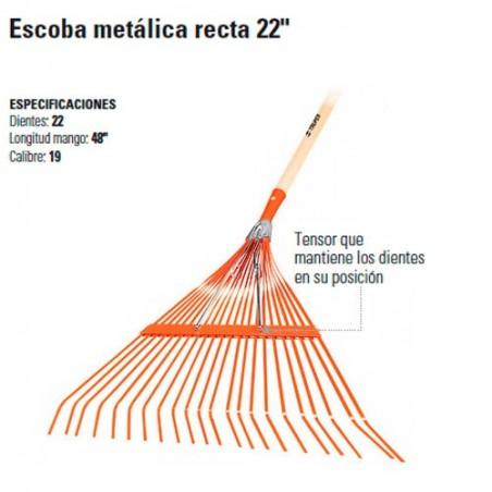 "Escoba Metálica Recta 22"" TRUPER"