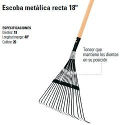 "Escoba Metálica Recta 18"" TRUPER"