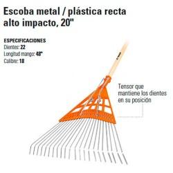 "Escoba Metal / Plástica Recta Alto Impacto 20"" TRUPER"
