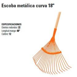 """Escoba Metálica Curva 18"""" TRUPER"""