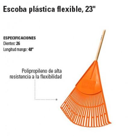 """Escoba Plástica Flexible 23"""" TRUPER"""