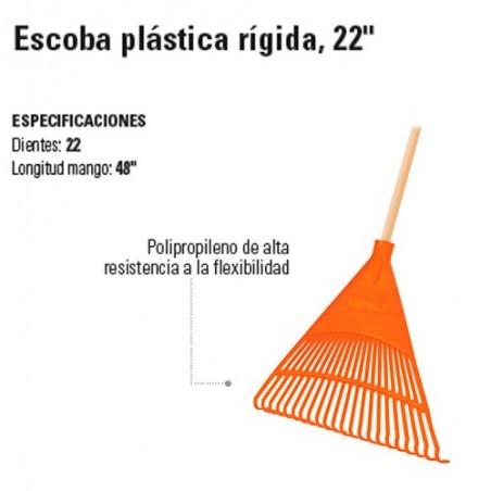 "Escoba Plástica Rígida 22"" TRUPER"