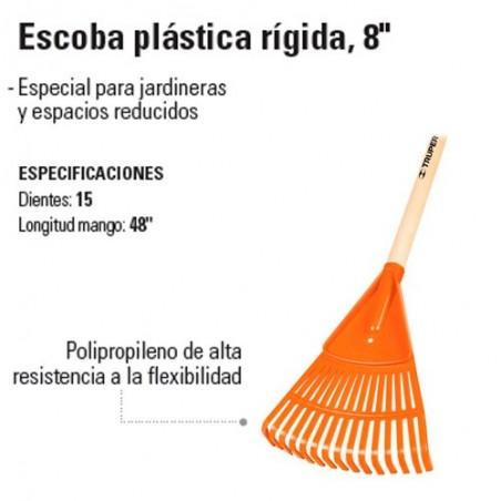 "Escoba Plástica Rígida 8"" TRUPER"