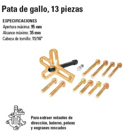 Extractor Pata de Gallo 13 Piezas TRUPER