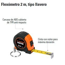 Flexómetro 2 m Tipo llavero TRUPER
