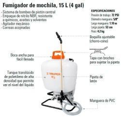 Fumigador de Mochila 15 L (4 Gal) TRUPER